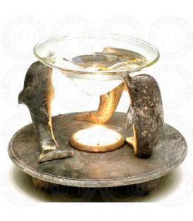Stone Aroma Lamp W/3 Dolphin STAL3D