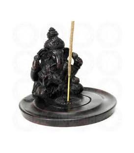 Figurka Ganesha w koronie - Żywiczna podstawka do kadzideł