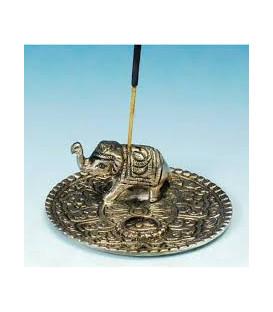 Podstawka metalowa pod kadzidła Talerz ze słoniem