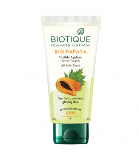 Peeling do mycia twarzy w żelu delikatnie złuszczający Bio Papaya 100ml Biotique