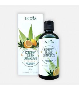 OLEJEK KONOPNY DO MASAŻU - CYTRUSOWY, 100 ml India Cosmetisc