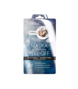 PEEL OFF Maska Silver GLOW Wygładzenie Rozświetlenie 10g  L'biotica