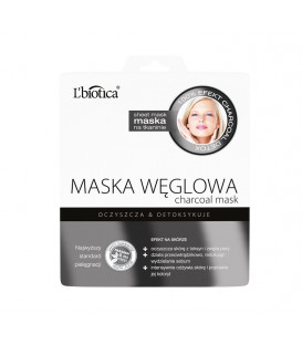 Maska Węglowa w postaci nasączonej tkaniny  23ml L'biotica