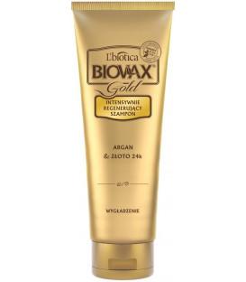 LBGS BIOVAX GOLD Argan  Złoto 24K szampon 200 ml wygładzanie L'biotica