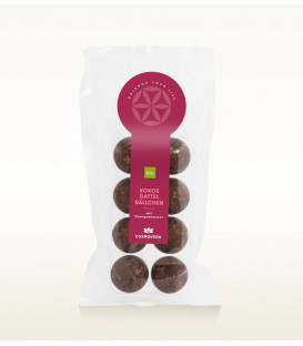 BIO Kule Kokosowo - daktylowe 100g Cosmoveda - proteinowe organiczne słodycze