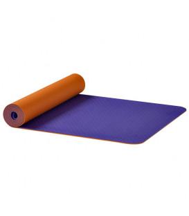 Mata do jogi Earth OM Ako Yoga, pomarańczowo-fioletowa