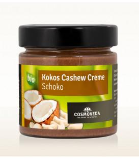 Krem Czekoladowo-Kokosowy z Orzechami Nerkowca ORGANICZNY 185g Cosmoveda