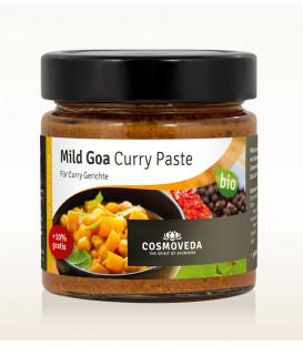 Pasta Goa Curry Łagodna do dań rybnych 160g Cosmoveda BIO