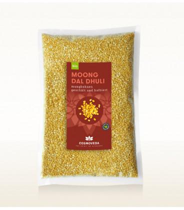 Organic Moong Dal - Fasola Mung, 1kg Cosmoveda