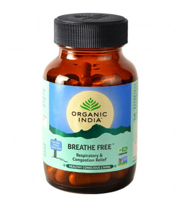 Breathe Free Organic India 60 kaps. suplement diety