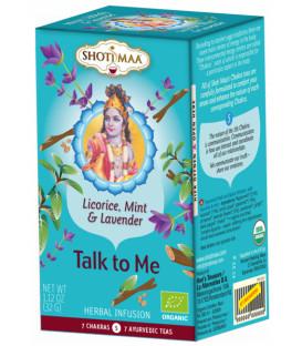 Herbata na 5 czakrę Gardła Vishudda (Talk to Me: lawenda, lukrecja i mięta),16 torebek  Shoti Maa