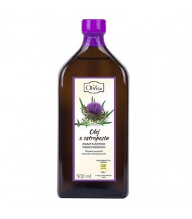 Olej z Ostropestu (tłoczony na zimno nieoczyszczony) suplement diety 500ml Olvita