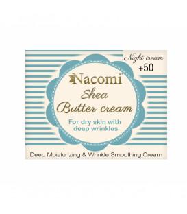 Krem z masłem shea i olejkiem makadamia 50+ na noc skóra dojrzała 50 ml Nacomi