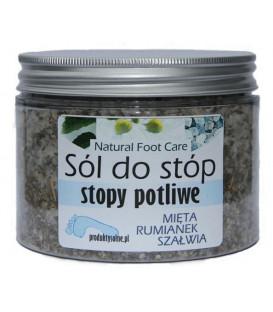Sól do stóp potliwych Mięta Rumianek Szałwia Słoik 500g