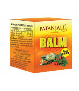 Maść na bóle głowy i przeziębienia Patanjali Balm 25g (Golteria mięta i eukaliptus)