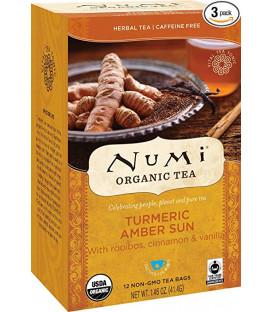 Organiczna herbata Amber Sun Turmeric, Numi Tea, 12 torebek