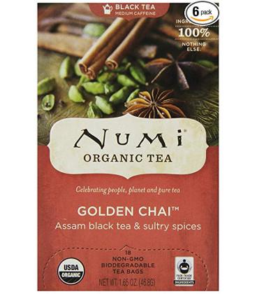 Organiczna herbata Golden Chai, Numi Tea, 18 torebek