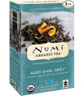 Organiczna herbata Aged Earl Grey, Numi Tea, 18 torebek