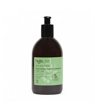 Mydło oliwkowo-laurowe w płynie 5% oleju laurowego BIO 500ml Najel