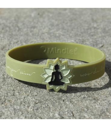 Mindlet Buddha bracelet, olive (Olive / Regular)