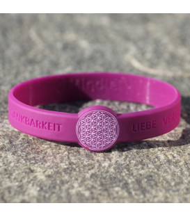 Mindlet Flower of Life bracelet, violet (purple / Regular)