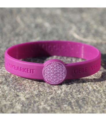 Mindlet Flower of Life bracelet, violet (purple / Regular)