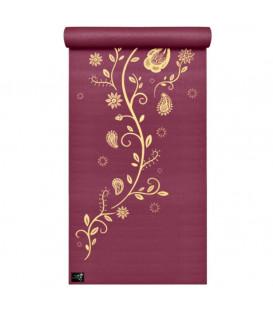 "Mata do jogi Yogimat ""Indian Flower"" kolor Bordowy 183 x 61 cm x 4 mm"