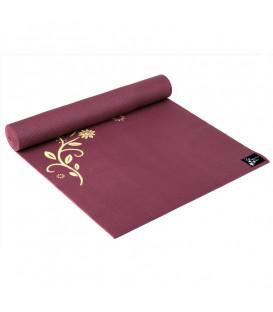 "Mata do jogi  Yogimat ""Indian Flower"", kolor Bordowy 183 x 61 cm x 4 mm"