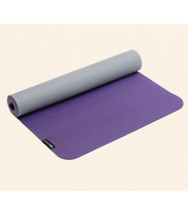 Yogimat PRO LIGHT violet-light gray, 183 x 61 cm x 3 mm (Violet/Light grey / 183 cm x 61 cm)