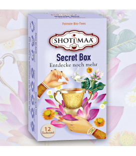 Secret Box Shoti Maa Tea mixed pack organic, 12 teabags
