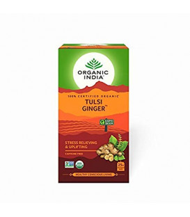 Herbata Ginger Tulsi Tea Organic India 25 torebek