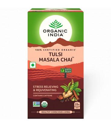 Herbata Tulsi Masala Organic India (25 torebek) - rozgrzewająca