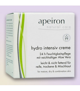 Hydro Intensive Cream Apeiron BDIH, 50 ml