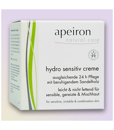 Równoważący krem do twarzy Hydro Sensitive,  Apeiron, 50 ml