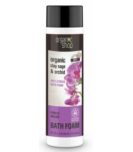 Pianka do kąpieli antystresowa - Purpurowa orchidea 500 ml ORGANIC SHOP