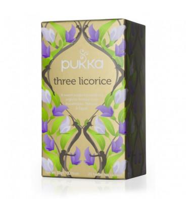 Herbata THREE LICORICE BIO 20 saszetek Pukka