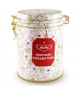 Zestaw Herbaciany Ayurvedic Collection (5 rodzajów herbat) w ozdobnej puszce BIO Yogi Tea