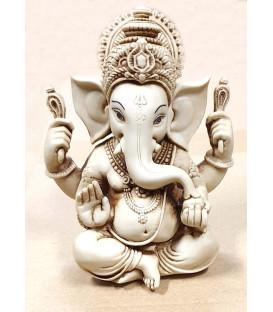 Figurka Ganesha siedzącego Jasny kamień  WF724