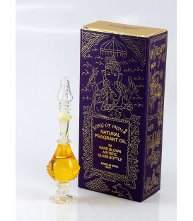 15 ml. Amber Perfume Oil in Hand-Blown Glass Bottles FA15-AM