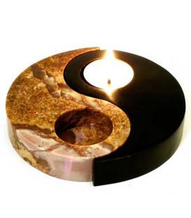 Kamienna podstawka na świeczniki 2 elementy łączenia Yin-Yang Song of India