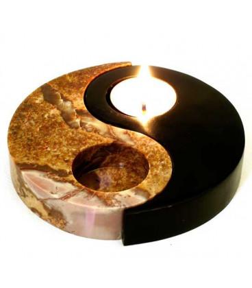 Stone Yin-Yang Candle Burner STCB1187