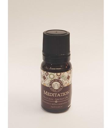 10 ml. Aroma Oil in Orifice Reducer Glass Bottles Meditation