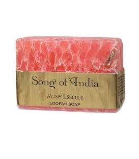 Ręcznie robione mydło glicerynowe z pilingującą Luffa (LOOFAH) - ROSE FLOWER 125 g. Song of India