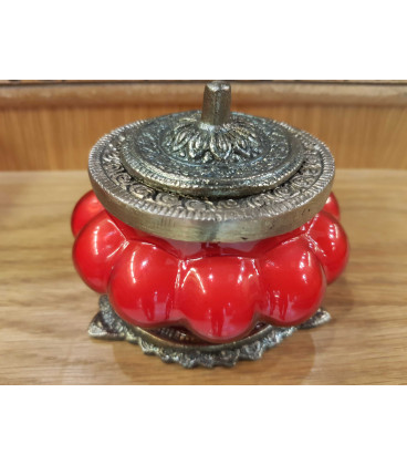 Świeca Ręcznie Robiona w szkle z orientalnym motywem - OPIUM FLOWER Song of India