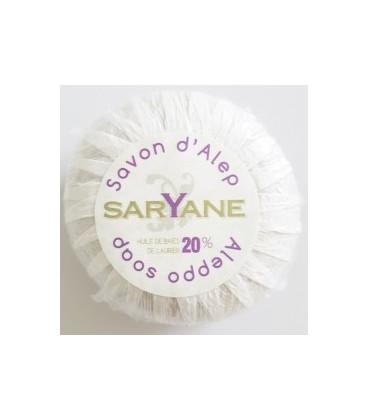 Mydło z Aleppo oliwkowe 20% oleju laurowego 100g okrągłe SARYANE