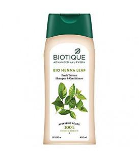 Szampon 2w1 z odżywką i BIO ekstraktem z liści LAWSONI ALBA 400ml Biotique