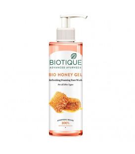 BIO Żel z dozownikiem MIODOWY, 200 ml Biotique - bez mydła do oczyszczania skóry twarzy