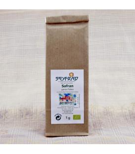 Saffron organic, whole threads, 1 g