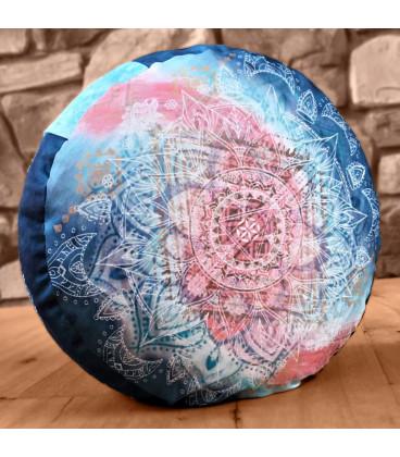 Meditation Cushion Round, Indigo-Peach (Indigo-Peach)