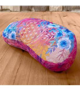 Poduszka do medytacji i jogi, Półksiężyc Kolor Różowo-Niebieski, The Spirit of OM